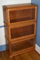 "Stacked ""Barristers"" bookcase in cherry and cherry-veneer"