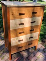 James R. Vander Schaaf, Chest of Drawers - Tiger Maple and Cherry